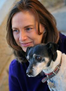 Kelley Durham, board member, with her dog