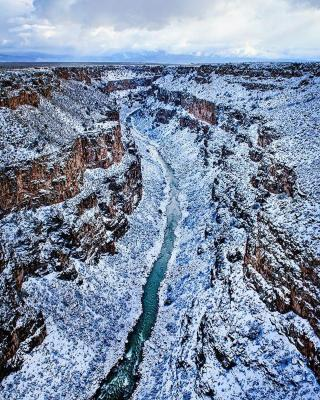 gorge covered in snow