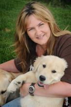 Jenny Kachnic, President, with her dog