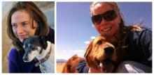 Kelley Durham and Katie Parker with their dogs